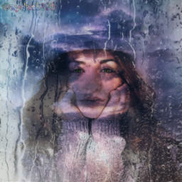 freetoedit rain girl thunder ecrainyseason