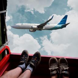 freetoedit truck feet airplane sky