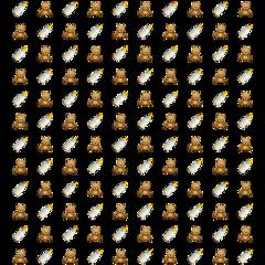 emoji pattern baby milk teddybear freetoedit