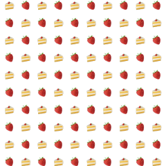 emoji pattern cake strawberry dessert freetoedit