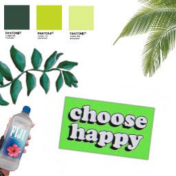 freetoedit green leafy choosehappy myownsticker