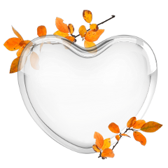 autumn fall heart glass freetoedit