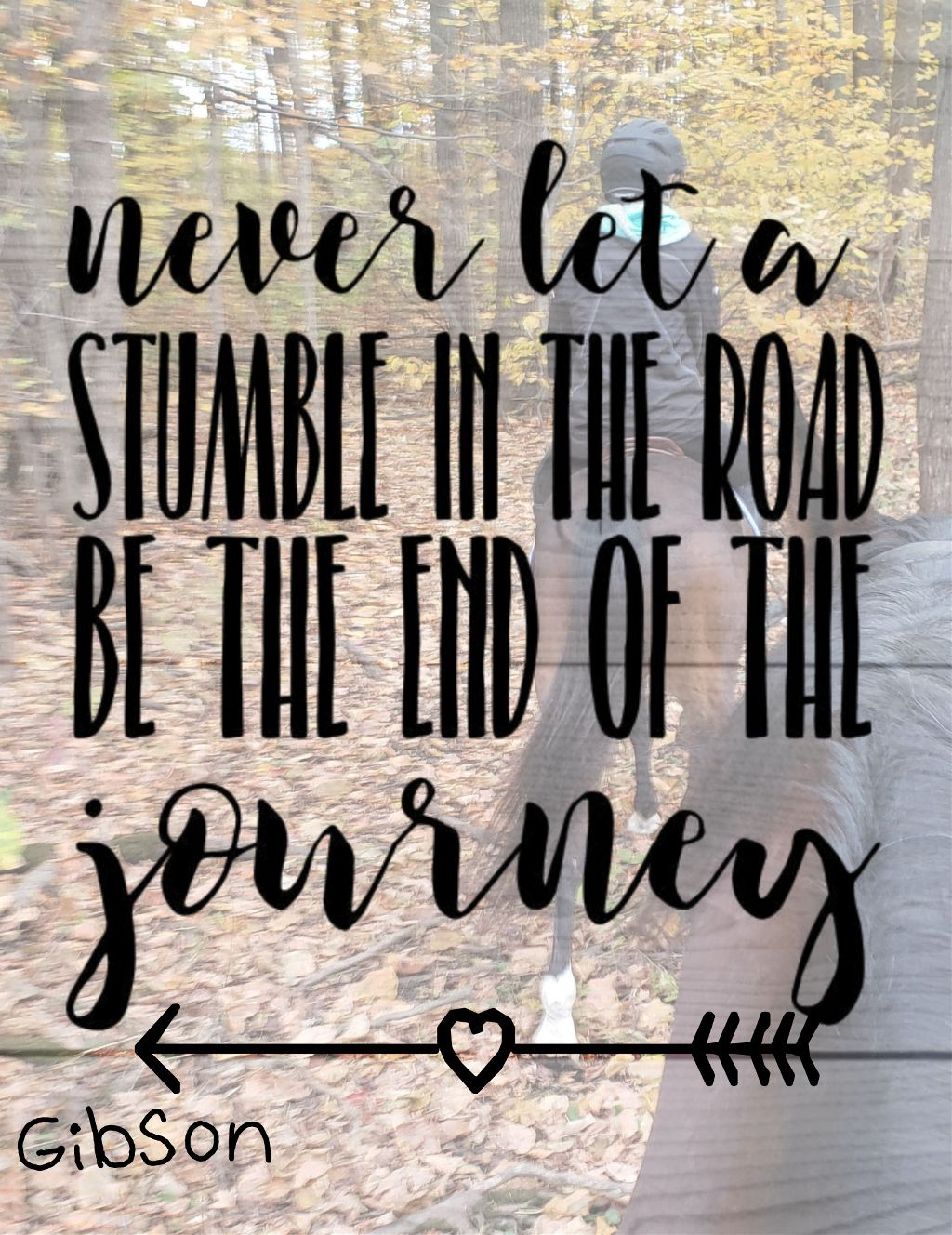 #quote #pony #trailride #forest #horse #gibson #lifequote #journey