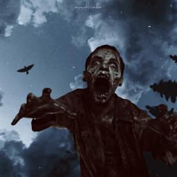 freetoedit zombie sky trees scary