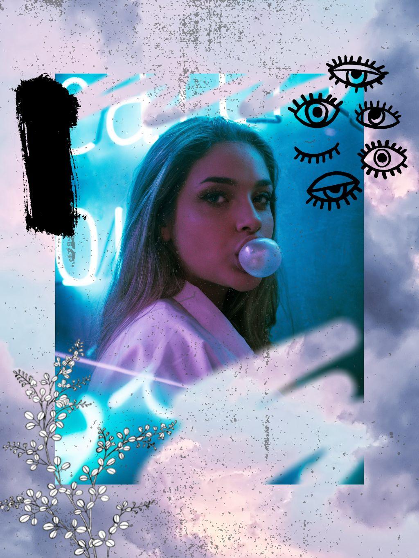 #freetoedit #grunge #grungy #edgy #sticker #eyes #doodles