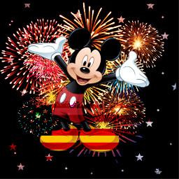freetoedit veteransday mickeymouse flag fireworks