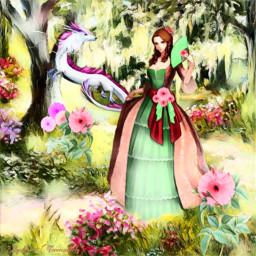 freetoedit fantasyart fantasy makebelieve imagination ircgirlwithaflower girlwithaflower