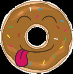 donut tongueout cute freetoedit