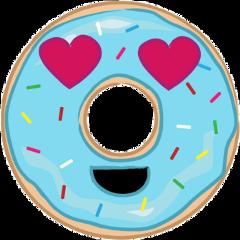 donut hearteyes love cute freetoedit