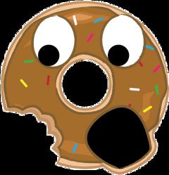 donut tasty eaten nomnom cute freetoedit
