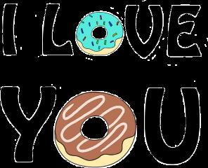 iloveyou donuts sweet sentiment freetoedit