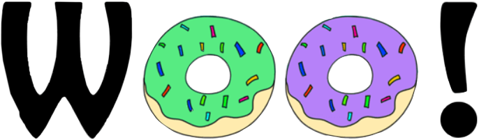woo donuts yum tasty freetoedit