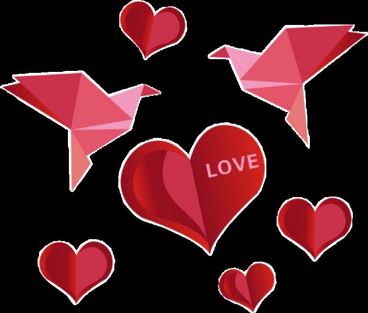 #stickers#love#heart#bird#red #freetoedit #scorigamistickers #origamistickers #ftestickers #stickers