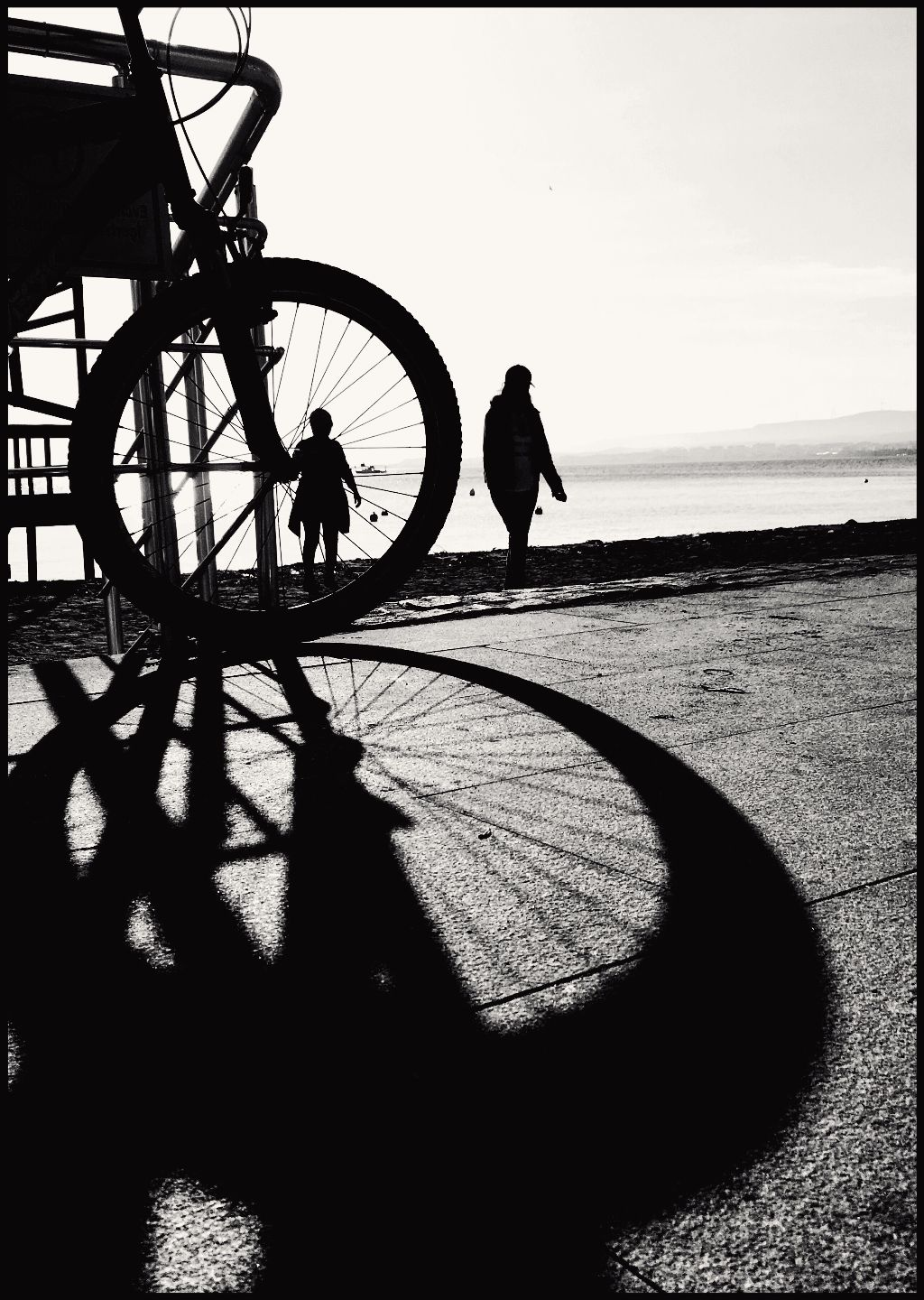 #bw #silhouette #bicycle #shadow