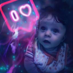 freetoedit baby likes neon