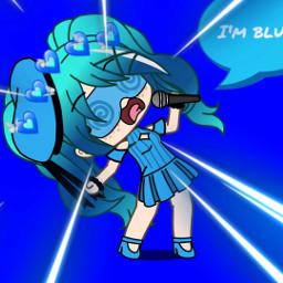 freetoedit blue gachalife gacha i'mblue