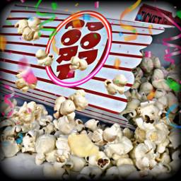 freetoedit popcorn text box confetti srcneoncircle neoncircle