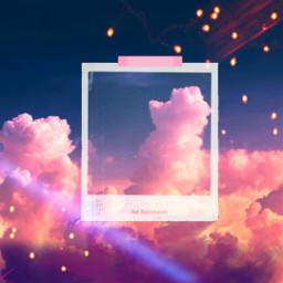 backround polaroid clouds aesthetic bokeh freetoedit