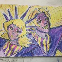 fanart 煮ル果実 vocaloid pastels coloredpencils