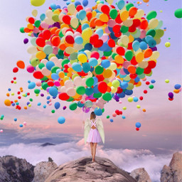 freetoedit nois7 balloons rainbow colors srcneoncircle neoncircle