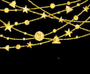 christmastree hangingstars hangingdecoration gold christmas ftesticker freetoedit