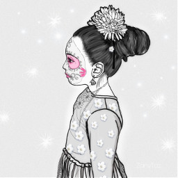 drawing sugarbaby culture diadelosmuertos costume freetoedit