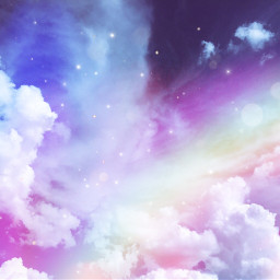 freetoedit clouds mystical rainbow asthetic