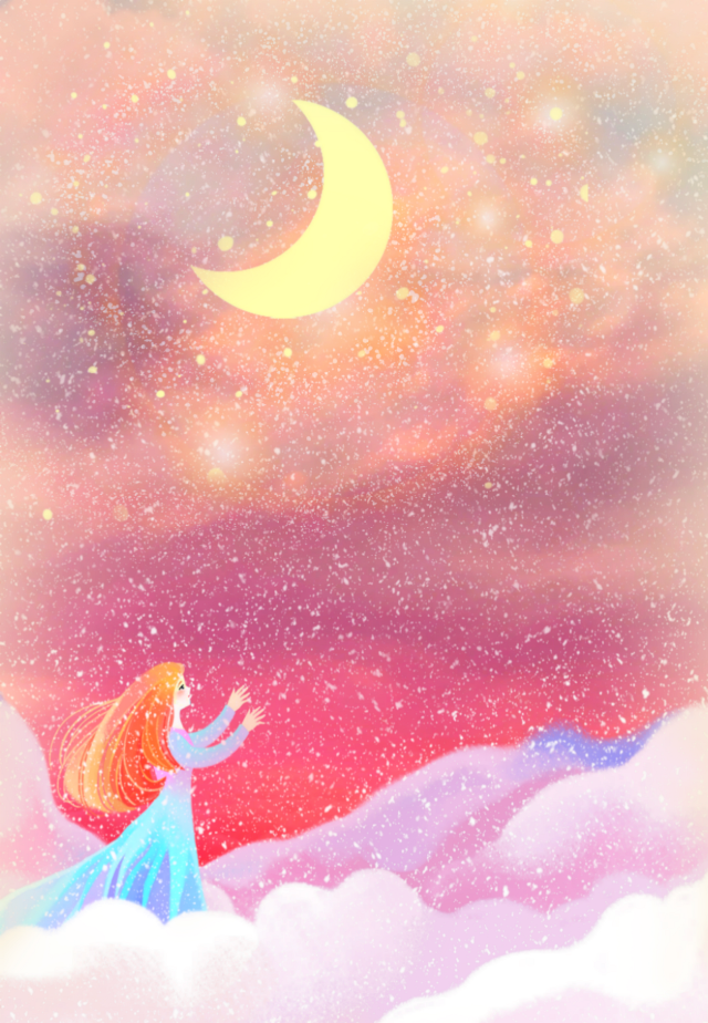 #freetoedit #fantasyart #cartoon #animation #fairytales #girl #princess #fairy #nightsky #moonlight #stars #starlight #beautiful #dreamy #colorful #myedit #madewithpicsart