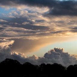 freetoedit eveningsky clouds heaven sky