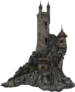 tower turrets building cliff freetoedit