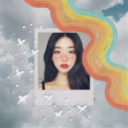 freetoedit aesthetic art polaroid stars