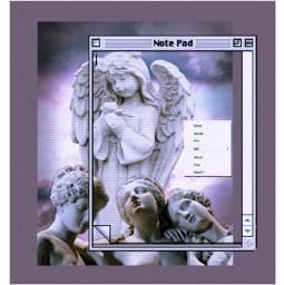 freetoedit angel aesthetic sculpture frame