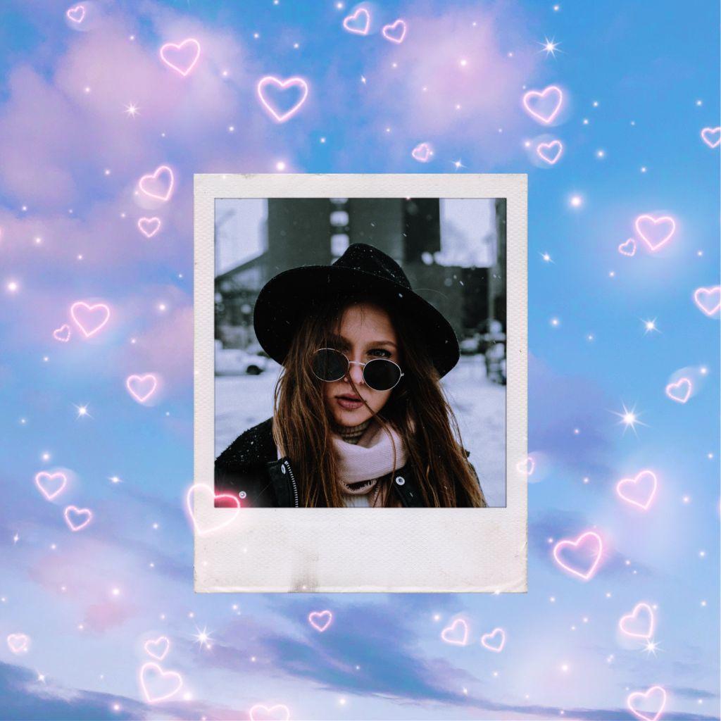 #freetoedit #hearts #clouds #cloudlover #cloud #heartbrush #replay #pinkclouds #girl #portrait #art #myedit #mystyle #purple #remixit
