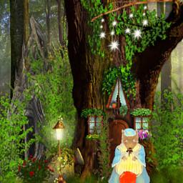 freetoedit fantasyart fairytale littleredridinghood forest