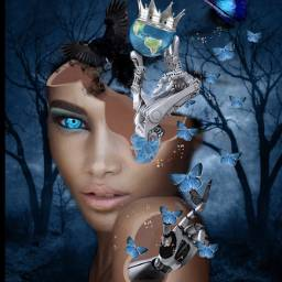 freetoedit metallic canvastexture blue robot