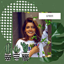 freetoedit green cactus plants collage retro