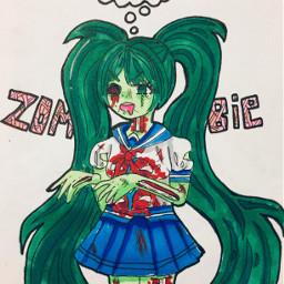nikkiisannart zombie art animeart anime