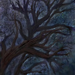 nighttree freetoeditremix nightforest dcnightforest