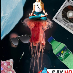 freetoedit noplastic plastic engagement ircredjellyfish redjellyfish
