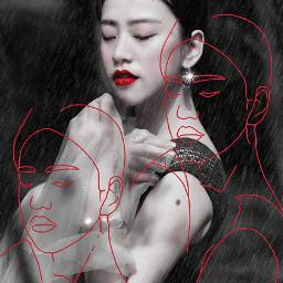 freetoedit art beauty faceart sketchereffect