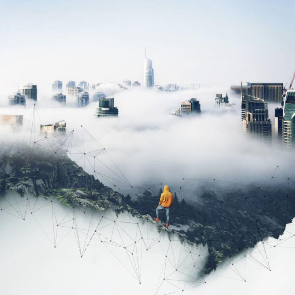 #freetoedit #city #foggy #forest #doubleexposure