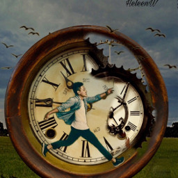 fantasyart imagination madewithpicsart clock time freetoedit