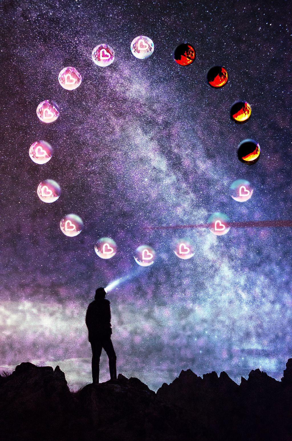 #freetoedit #heartmoon #galaxy #moon #starrynight