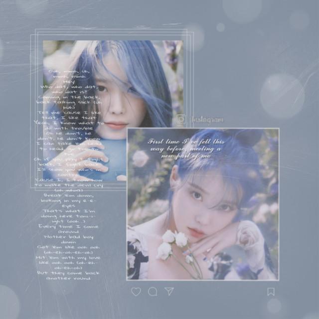 Iu  ♡♡    髪色似合いすぎ♡♡  #kpop #iukpop #blue #iu