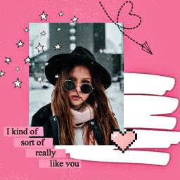 freetoedit retro collage pink vintage