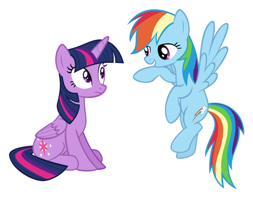 #twilightsparkle #rainbowdash #mlp