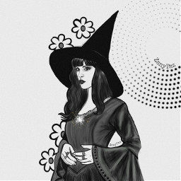 witch witchywoman witchhat drawing illustration freetoedit