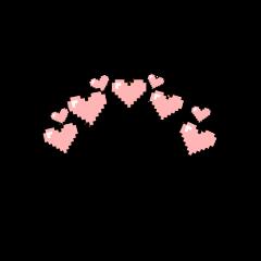 heart pink pixel glitch crown freetoedit