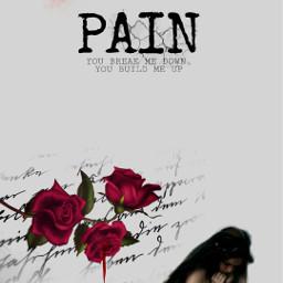 pain sad rosa feelings freetoedit