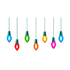 freetoedit rainbow christmas hanging decoration